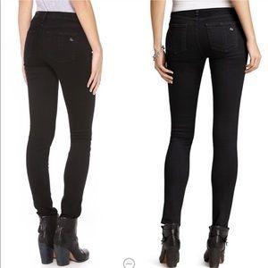 Rag and Bone Dark Wash Midrise Skinny Jeans